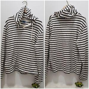 J.CREW  hooded pullover sweatshirt  M